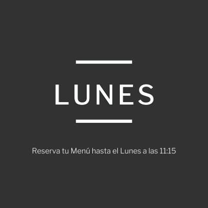menú diario Lunes madrid