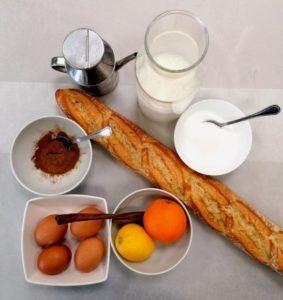 ingredientes receta torrijas