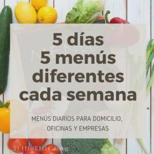 Menú del día para los 5 días
